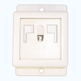 L-shaped safety receptacle set ( 2P+E )