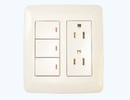 3 gang switch & 2 receptacle set